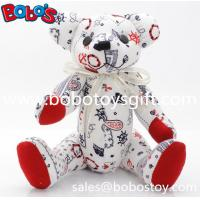 "Wholesale 10"" Customized Made Stuffed Bear Toys be made in Fashion Printing Fabric from china suppliers"