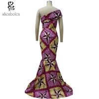 Quality African Lady / Female Wax Fabric African Style Dresses Fashion Sexy 100% Cotton for sale