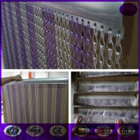 Wholesale Purple & silver Fashionable Decorative Aluminium Double Hooks Chain Fly Screen Curtain from china suppliers