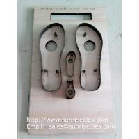 Buy cheap Slipper sole steel rule dies supplier, flatboard slipper sole steel cutter dies maker from wholesalers