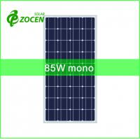 Wholesale 2BB 125*125mm Monocrystalline Solar Cells Made into 85W Solar Panel for LED Light from china suppliers