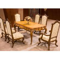 Wholesale OEM Antique Luxury Dining Room Furniture , Dining Room Table And Chair Sets from china suppliers