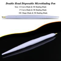 Quality Private Label White Dual Head Disposable Microblading Pen For Hairstroke / Shadow for sale