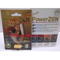 Wholesale Powerzen Gold 1200mg Male Sexual Performance Enhancement Pills from china suppliers