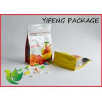 Wholesale Side Gusseted Flat Bottom Bag With Pocket Zipper For Food Packaging from china suppliers