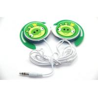 Quality Green Stereo Sound Isolating Earphones Cute Wired Earhook For Mp3 for sale