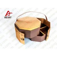 Wholesale Golden Coated Customized Cardboard Gift Boxes With Lids CMYK Printing from china suppliers