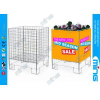 Wholesale Modern Zinc Plated Wire Dump Bins / Promotion Retail Display Cages from china suppliers