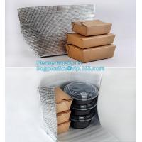 China Reusable Aluminium Foil Lunch Food Delivery Non Woven Insulated Thermal Cooler Bag,hot food delivery Use Aluminum Foil i on sale