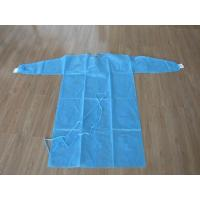 Wholesale Nonwoven SMS / PP + PE Disposable Medical Gowns / Surgical Isolation Patient Coat  S M L XL from china suppliers