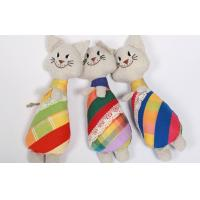 "Quality Soft Sculpture Handmade Linen Toys Soft Art Primitive 10"" Cat Embroidered Doll for sale"