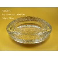 Wholesale Nest Shape Clear Glass Ashtray, Engraving from china suppliers
