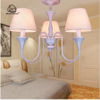 Quality Modern LED Chandelier Lighting Fixture Gold Iron Holder Chandeliers Lamp Lustres With Fabric Lampshade For Home lamp for sale