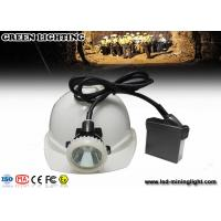 Wholesale Mining hard hat headlamp Outdoor Hunting / Super Bright Rechargeable LED Miner Cap Lamp Lithium Battery from china suppliers