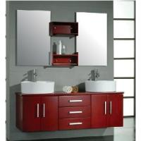 Wholesale Wall Mounted Double Sinks Wooden Bathroom Vanity in Cheery Color (Bl8124) from china suppliers
