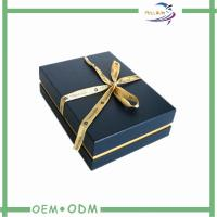 Wholesale Black Jewelry Gift Boxes With Velvet Insert , Necklace Packaging Box from china suppliers