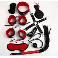 Wholesale Red Sex Toys 10 Pieces Sets Sex Fetish Good Blindfold Silk Tie Whip For Couples from china suppliers