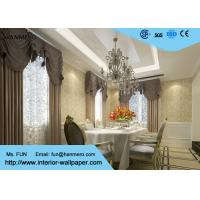Wholesale Tear - Resistant Embossed Flocking Country Floral Wallpaper 0.53*10M from china suppliers