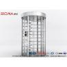 Buy cheap Full Height Turnstile RFID Card Reader Fingerprint Stainless Steel Turnstiles from wholesalers