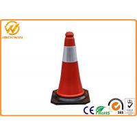 Wholesale Heat Resistant PE Custom Safety Cones With 1.3kg Rubber Base 50 cm Height from china suppliers