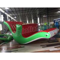 Wholesale 5m Long Inflatable Stimulating Totter Seasaw  Floating Water Games For Kids from china suppliers