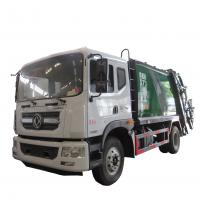 Wholesale New dongfeng 4*2 12-14m3 refuse collector solid waste garbage refuse truck for sale, compacted garbage truck for sale from china suppliers