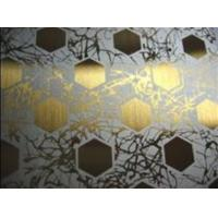 Wholesale AISI, ASTM Ti-Coating Color Decorative Etched Stainless Steel Sheet / Plate from china suppliers