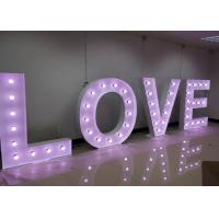 Wholesale LED Light Up LOVE Wedding Letter Lights , Large Metal Lighted Letters from china suppliers