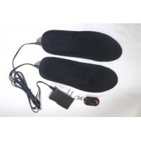 Quality Heated insolees,heating pads and lithium battery pack leather PU insole for sale