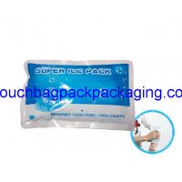 China Plastic ice pack bag, poly ice pack bag, matte printing, food grade on sale