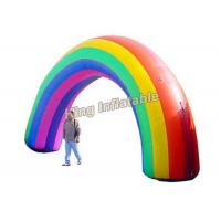 Wholesale Colorful Oxford Fabric Rainbow Inflatable Arches For Event Entrance from china suppliers