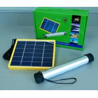 Wholesale Quality Flashlight LED solar light with 6V*3W Solar Panels and 3.7V/2000mA*2 lithium battery group capacity (4000mA) from china suppliers