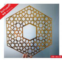 Wholesale Home Decoration Golden Mirror Acrylic Sheet Wall Sticker Laser Cutting from china suppliers
