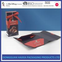 Wholesale Black Cardboard Foldable Gift Box Logo Printed Clothing Packaging Box from china suppliers