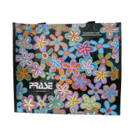 Wholesale Customized PRASE PP Woven Bags With Flower Pattern, Personalized Logo For Shopping from china suppliers