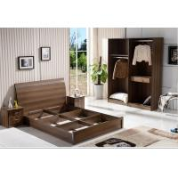 Buy cheap Cheap  style rent Apartment home furniture melamine plate bed 1.2m- 1.5m-1.8 m light walnut color from wholesalers