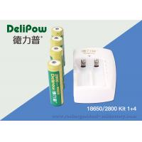 Quality Environmentally Friendly Rechargeable Battery Lithium , 3.7v 2200mah 18650 Lithium Battery for sale