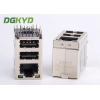 Wholesale Cat3 RJ45 Connector stack over dual USB 2.0 A type with Y/G Led from china suppliers