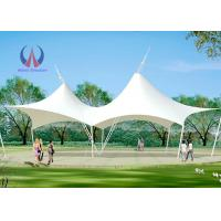 Quality Double Ridge Roof Building Shade Structures , Steel Sling Car Wash Shade Structures for sale