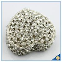 Wholesale Wholesale Big Jewelry Box Diamond Hollow-out Heart Shape Trinket Box SCJ711-2 from china suppliers