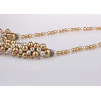 Buy cheap Single Strand Costume Pearl Necklace For Bridesmaids Custom Multicolor from wholesalers