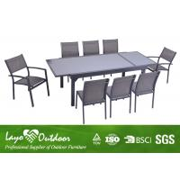 Aluminium Extendable Dining Table Set / Dining Room Tables With Extensions