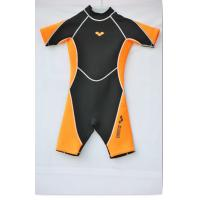 Quality Children Neoprene Surf Suit in 3mm CR Material Laminate Black / Tan nylon for sale