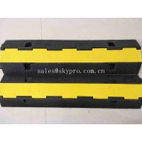 Wholesale SGS Molded Rubber Products 1 Channel Heavy Duty Rubber Cable Tray Cable Protector from china suppliers