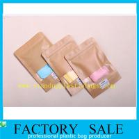 Wholesale Brown Ziplock Kraft Paper Pouches For Underwear Packaging , Stand Up Style from china suppliers