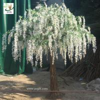 Wholesale UVG walk way decoration 10ft white wisteria blossom fake trees for wedding WIS014 from china suppliers