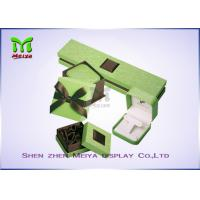 Wholesale Luxury Beautiful Paper cardboard jewelry gift boxes With Silk Cover from china suppliers