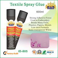 Wholesale Black 600ml Cloth / Paper Textile Spray Glue Adhesive To Metal / Wood Or Glass from china suppliers