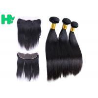 Buy cheap Regular Straight Virgin Malaysian Hair Lace Closure 13*4 Full Cuticles Aligned from wholesalers