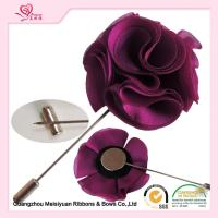 Wholesale 5cm Size fabric rosette diy Fabric Flower Lapel Pins mens fashion from china suppliers